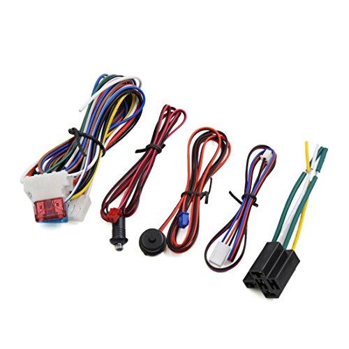 uxcell 1-Way Car Vehicle Burglar Alarm System Keyless Entry Security System w//2 Remote Control