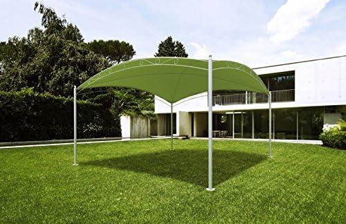 feriter CENADOR/PERGOLA 3, 5 X 3, 5 X 2, 10M Estructura EN Acero TOLDO Color Verde Claro: Amazon.es: Jardín