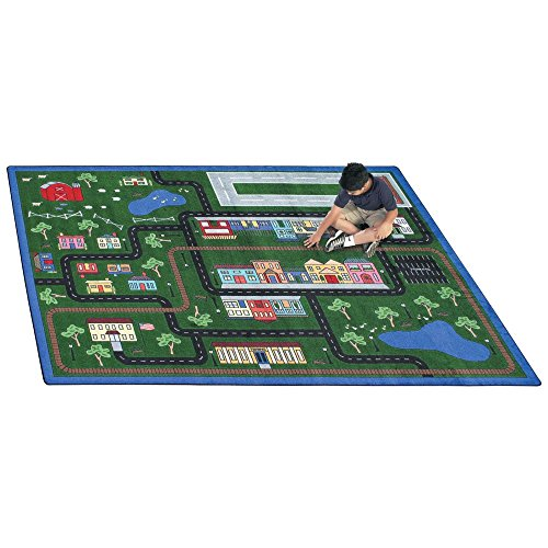 """Joy Carpets Kid Essentials Active Play & Juvenile Tiny Town Rug, Multicolored, 7'8"""" x 10'9"""""""