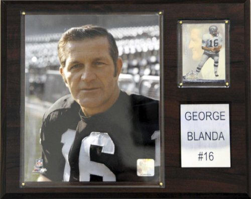 NFL George Blanda Oakland Raiders Player Plaque