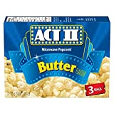 Act ii Microwave Gourmet Popcorn - Butter Flavour (3 x 78g Snack-Size Bags), 1 Count