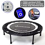 Bounce & Burn II - Mini Trampoline Affordable & Fun Way to Lose Weight get FIT! Includes DVD. Plus - Free Online Streaming Rebound Workouts Available.