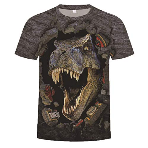 Willow S Summer2019 Men's Round Neck Personalit Drogan Print Short Sleeve Leisure Party Top Blouse