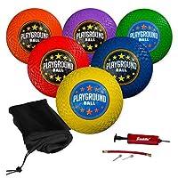 "Franklin Sports Playground Balls – Rubber Kickballs and Playground Balls For Kids – Great for Dodgeball, Kickball, and Schoolyard Games – 8.5"" Diameter"