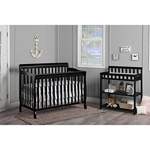 51cn2ZkDHoL - Dream On Me, Ashton 5-in-1 Convertible Crib, Black