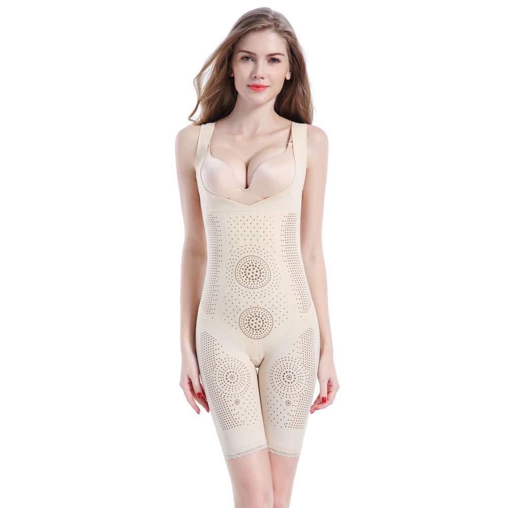 Mid-Sleeve Corsets Anion one-Piece Suit Postpartum Functional Adjustment Body Underwear Abdomen waist-skincolorSleeveless-82XXL