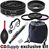 Canon EF 40mm f/2.8 STM Ultra-Slim Pancake Lens for Canon Digital SLR Cameras, includes; 9pc CD Supply Accessory Kit
