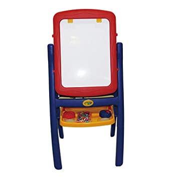Amazon.com: Kids Plastic Double Sided Art Easel Stand Chalk ...