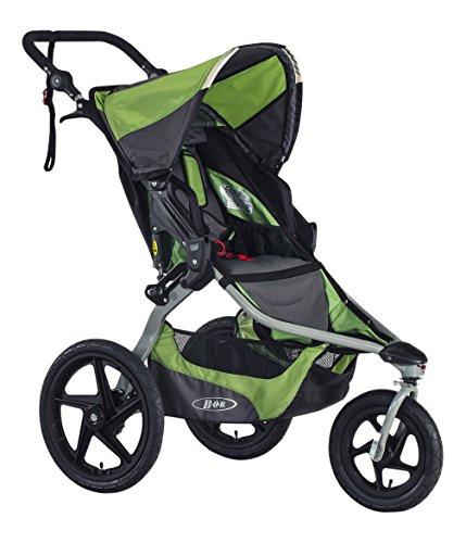 BOB Revolution Flex 2.0 Jogging Stroller - Up to 75 pounds - UPF 50+ Canopy - Adjustable Handlebar, Meadow