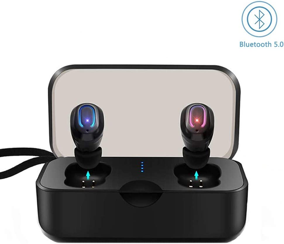 Wireless Earbuds, True Wireless Headphones Bluetooth 5.0 in Ear Earphones Hands Free Sweatproof Built-in HD Dual Microphone Sport Bluetooth Earbuds for iOS Android