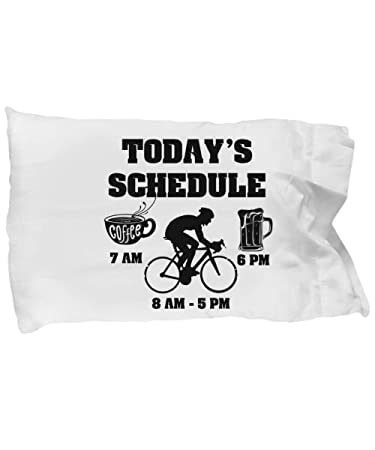 Amazoncom Funny Novelty Gift For Cyclist Todays Schedule Coffee