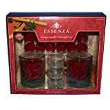 Essenza Luxury Candle & Tea Light Set - Spiced Grapefruit (Pack of 7)