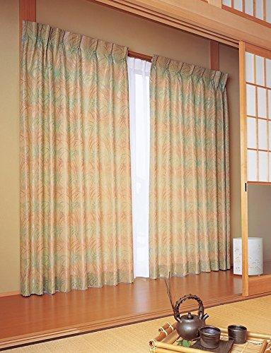 東リ シックな色合いで立体的に織り上げたすすき カーテン1.5倍ヒダ KSA60178 幅:150cm ×丈:290cm (2枚組)オーダーカーテン   B077TBZ23S