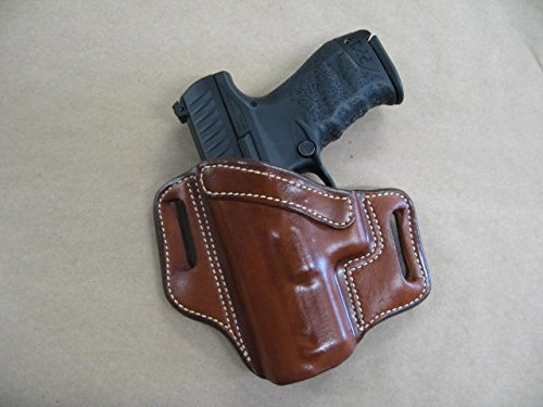 Azula OWB Leather 2 Slot Molded Pancake Belt Holster for Walther PPQ M1, M2 9mm / .40 CCW TAN Left Hand