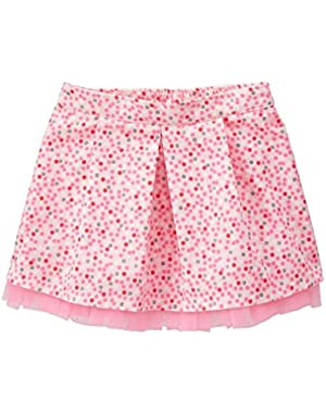 Baby Girls' Pink Dotted Corduroy Skirt