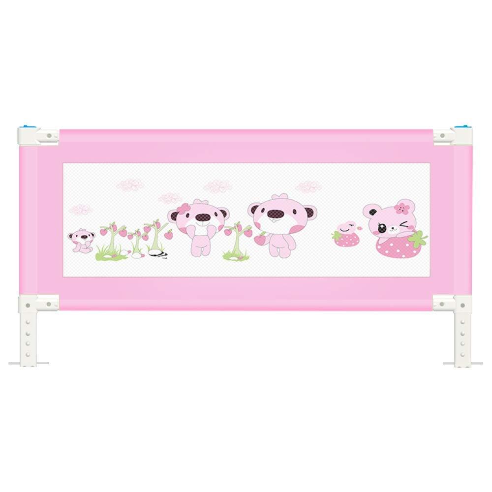 XIAOMEI,ベッドフェンス キッズベッドレール垂直持ち上がるベッドガード安全保護ガード幼児用赤ちゃんと子供のための反落下ベッドガードレールを組み立てることは本当に簡単 家庭、屋外で使用されます (Color : Pink, Size : 150cm) 150cm Pink B07SMW8BNL