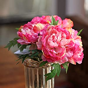 XGM GOU Big 1 Bouquet 5 Heads Artificial Silk Peony Bouquet Wedding Decoration Mariage Roses Party Christmas Home Decoration Accessories 33