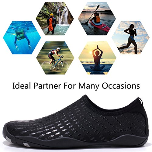 Surf Dry Black Schuhchan Beach Quick Barefoot Shoes Women for Pool Water Sports Aqua Men Yoga qffw76I