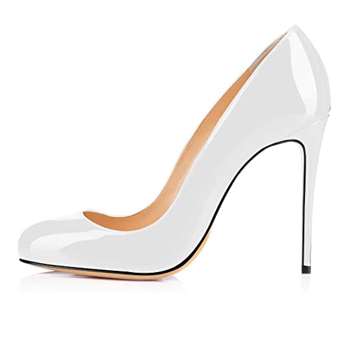 82f8d93ce elashe Womens High Heel Pumps |10cm Stiletto Round Toe Pumps | Classic Sexy  Wedding Dress Pumps