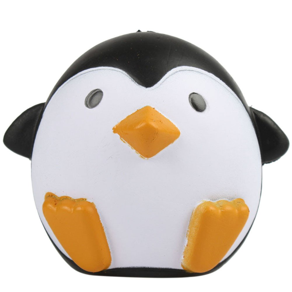 MyMei Squishy Slow Rising Toy Stress Reliever Strawberry Cake Hand Wrist Toy (Penguin)