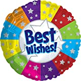 Creative Converting CTI Mylar Balloons, Best Wishes, 17'', Multicolored pack of 5