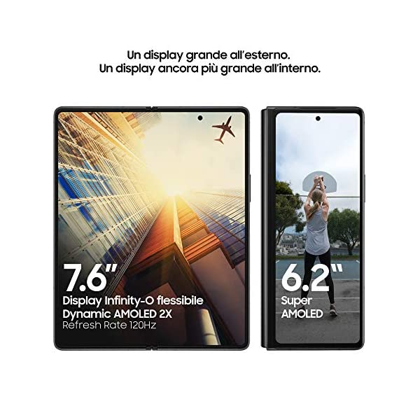 "Samsung Galaxy Z Fold2 5G Smartphone, Display ext.6.2"" Super AMOLED / int. 7.6"" Dynamic AMOLED 2x, 256GB, RAM 12GB… 3"
