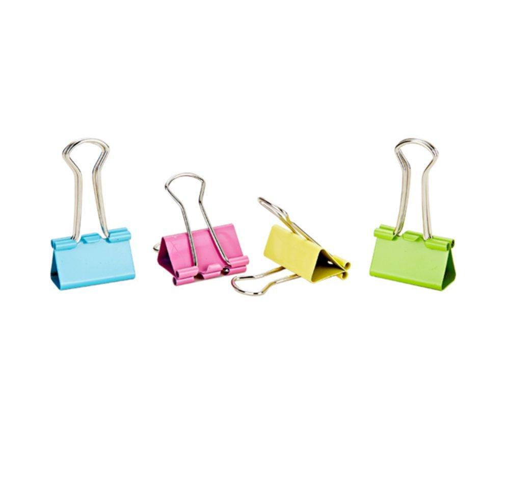 Leisial 48 pz colori assortiti metallo raccoglitori clip fermafogli, 25 mm Office organizer (colore casuale) 25mm Office organizer (colore casuale)