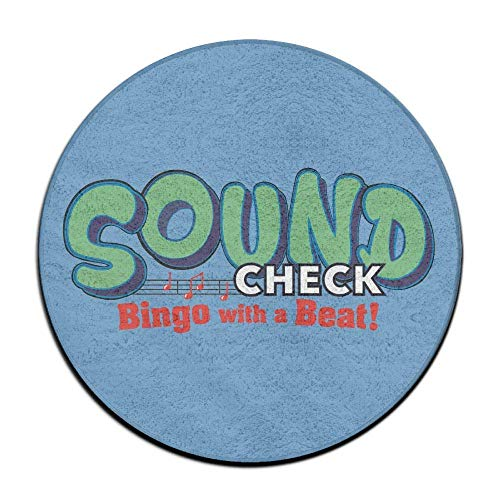 nuohaoshangmao 23.6'' Round Area Rug Non-Slip Sound Bingo Floor Mat Modern Carpet Home Decorate Office Chair Pile by nuohaoshangmao