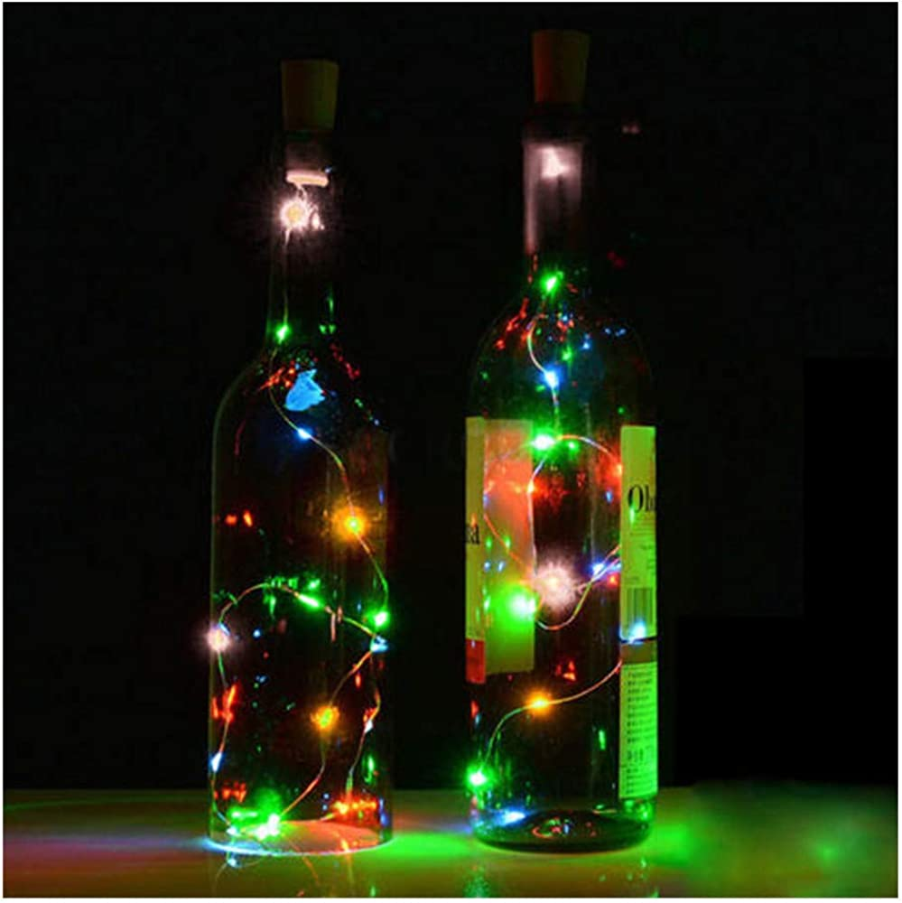 Luz de noche Lámpara Bottle LED String Solar Powered Con forma de corcho