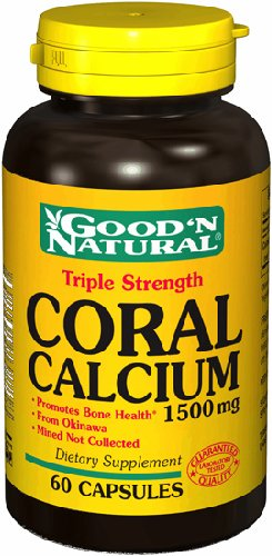 Triple 1500mg de calcium de corail Force - 60 casquettes, Good'n (naturel)
