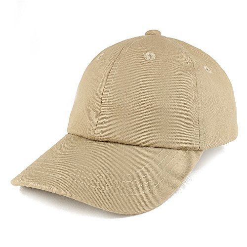 Baby Infant Plain Unstructured Adjustable Baseball Cap - Khaki (Khaki Unstructured Adjustable Cap)