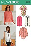 Simplicity Creative Patterns New Look 6266 Misses' Button Front Shirts, A (8-10-12-14-16-18)