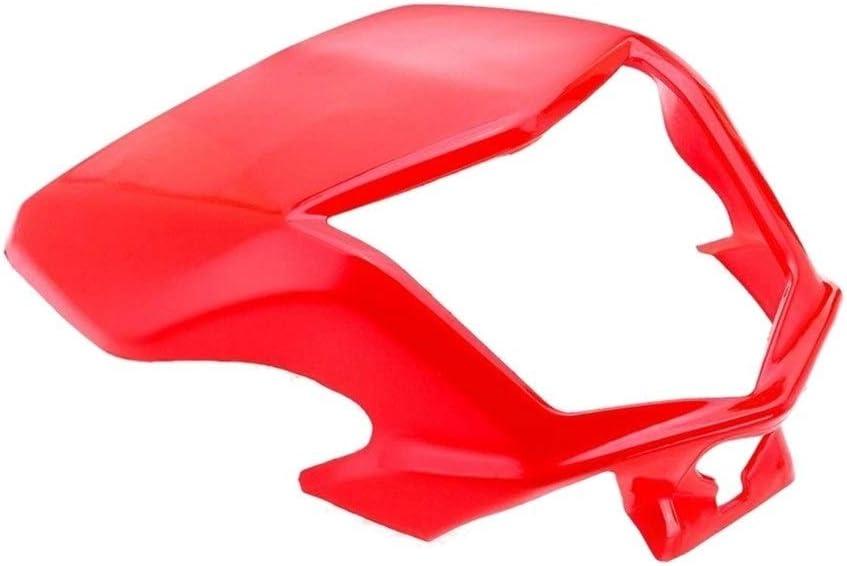 Color : Red MSJFUBANGBM FUBANGBM Motorrad-Frontscheinwerfer Lampe Visier Verkleidungs Windschutzscheibe Schutz gepasst for Honda CRF Crf250L Crf250M 2012-2017 Red