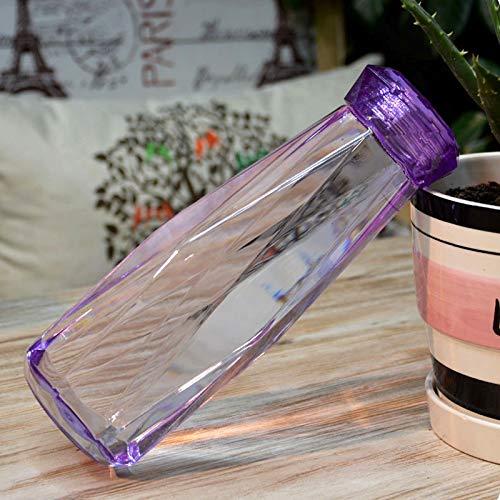 Twister Jug - Bottle Cap - 620ml Leak Proof Transparent Plastic Irregular Water Bottle With Cap Home And Office Purple - Epoxy For Tightener Precut Puzzle Sticker Box Unicorn Holes Craft