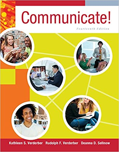 Where can i find communicate 14th edition verderber test bank? Quora.