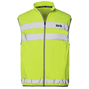 Time To Run Men s High Vis Reflective Running Cycling Walking Gilet Bib Vest  Large 6270f75d5