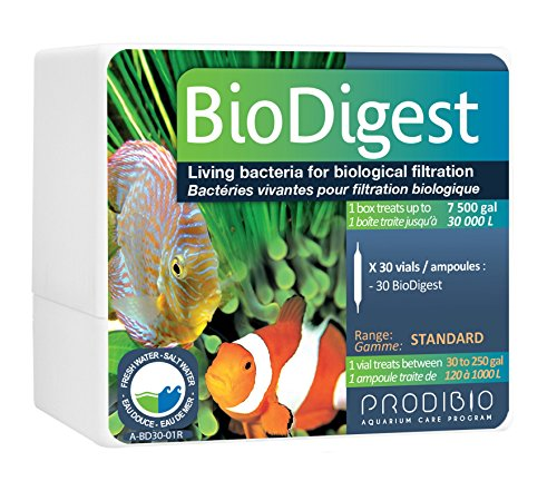 Prodibio Bio Digest, Nitrifying Bacteria, Fresh and Salt Water, 30/1 mL vials, 30 gal and up ()