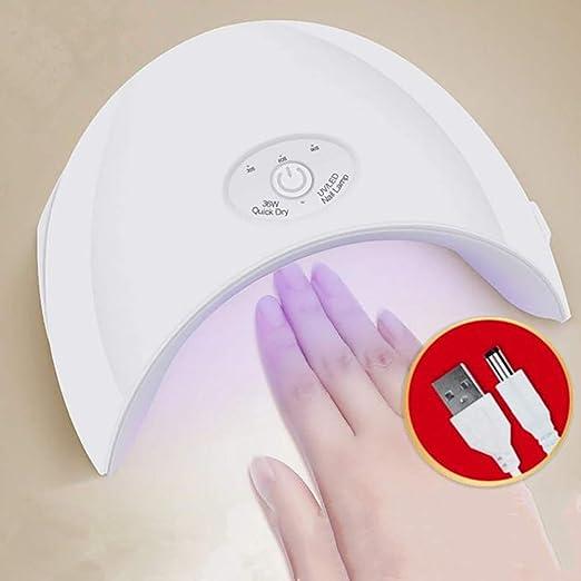 36W UV lámpara de luz LED Secador de uñas de gel con temporizador, Sensor para uñas de gel y Toe Nail Curing (Rosado): Amazon.es: Belleza