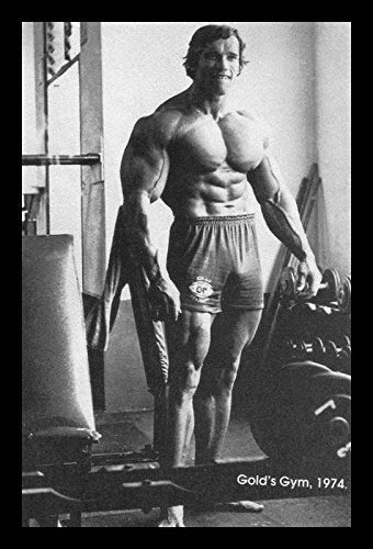 Buyartforless IF PGA1001 18x12 125 Black Arnold Schwarzenegger Training