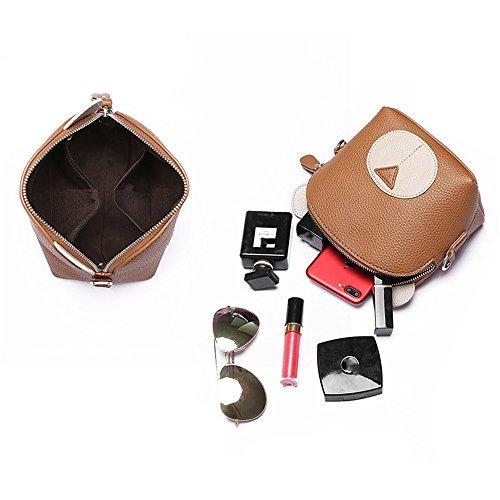à Un PU bandoulière Simple Sac Portable pour Brown Sac Usage Convient bandoulière bandoulière rétro Asdflina Quotidien à Sac à txqgBwAaA