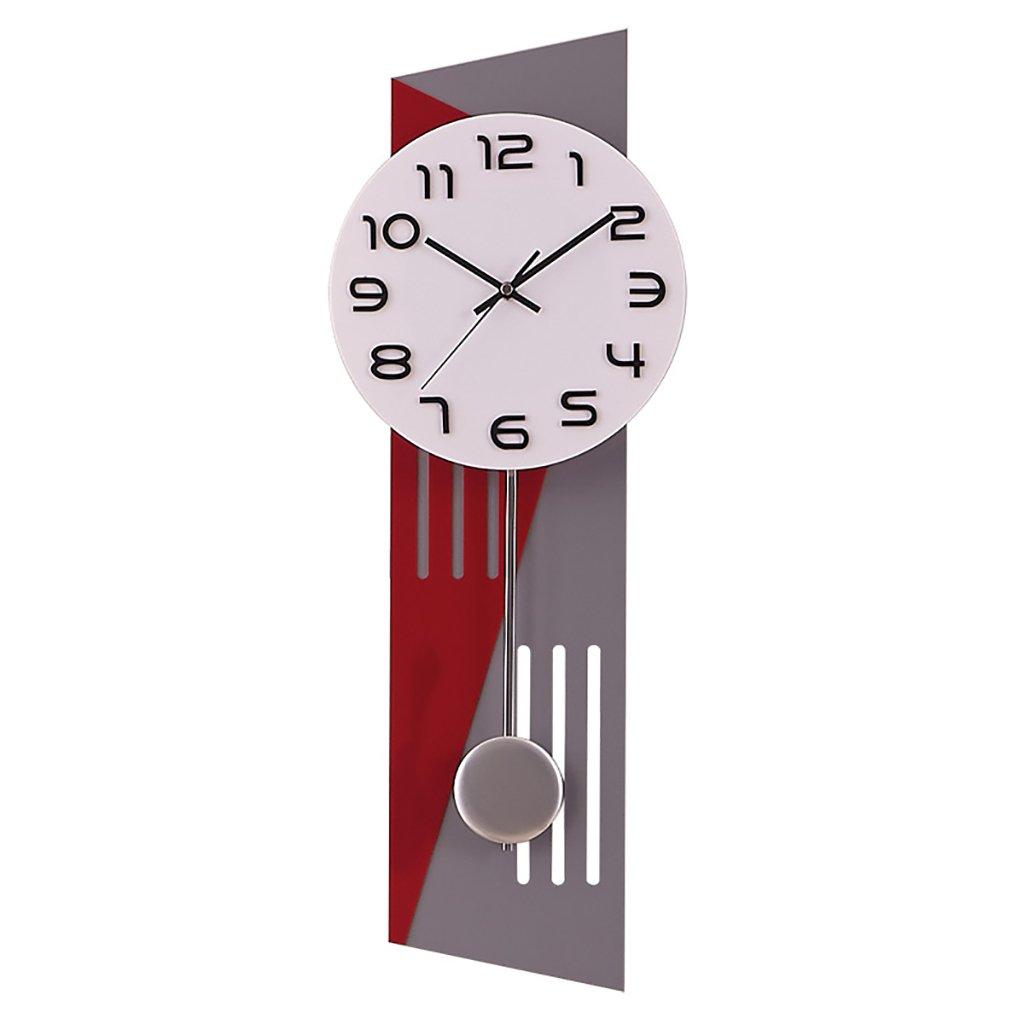 Flashing- Stille Wanduhr Pendeluhr Wohnzimmer Moderne Einfache Persönlichkeit Kreative Wanduhr Kunst Handwerk Wanduhr