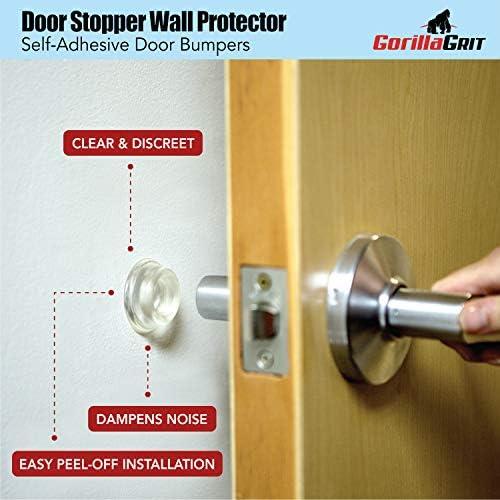Prevent Damage to Walls from Door Knobs Handles Anti-Collision Silicone Removable Door Handle Bumpers Rubber Door Stopper Decorative Doorstop Bumper,Wall Protector for Door Handle Easy Install