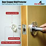 Rubber Door Stopper Bumpers (Pack of 4) Clear