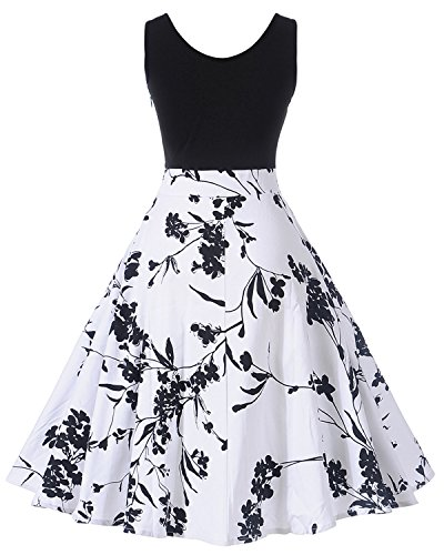 Lieberpaar Damen 1950er Hepburn Vintage Rockabilly Polka Dots Blumen ...