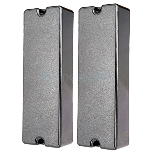 - 2x Closed Seal Type Humbucker Pickup Cover for 6 String Electric Bass 2 Hole
