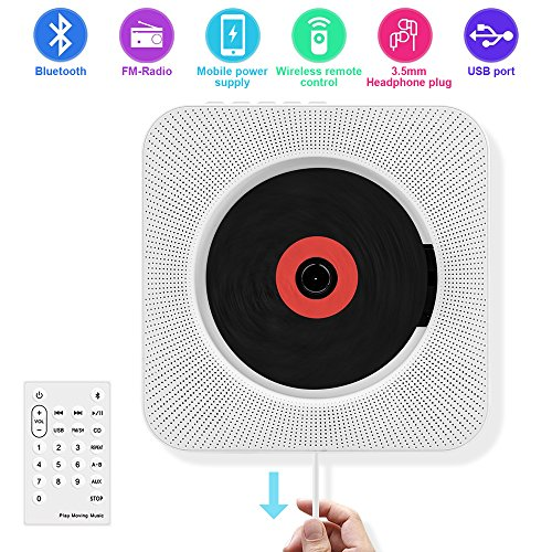 CD Player with Bluetooth, Portable CD Player Wall Mountable,