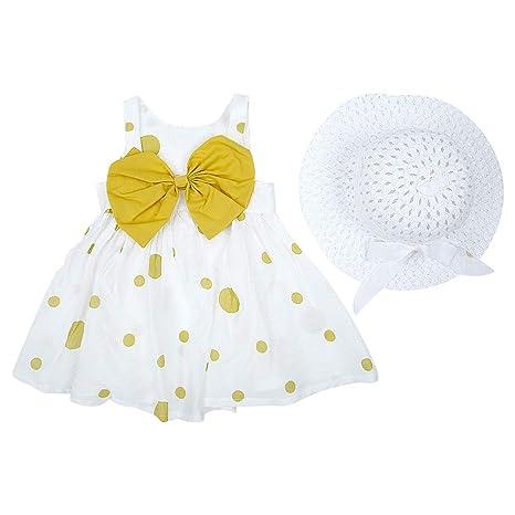 Bebés Vestido de verano Bowknot Ruffle Sling Falda Infantil Tul ...