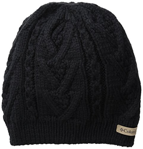 Hat Wool Columbia - Columbia Adult Parallel Peak II Beanie, Black, One Size