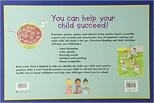 Kids Wide Activity Pad - Preschool: Reading and Math Activities ...