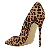 Eldof Womens Pointed Toe GENUINE Horse Hair High-end Quality 12CM exy Office Dress Pumps Shoes